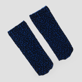 Pinned by K socks leopard blue