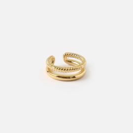 Orelia double ear cuff gold