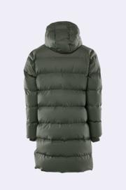 Rains long puffer jacket green