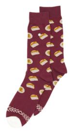 Alfredo Gonzales Taco socks bordeaux