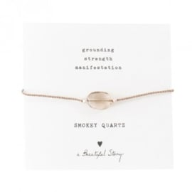 A beautiful story  smokey quartz armband