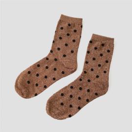 Pinned by K socks glitter dots bronze