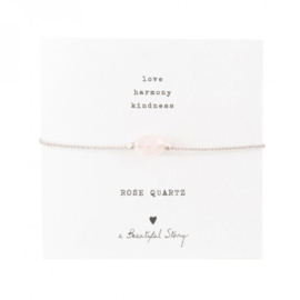 A beautiful story rose quartz armband