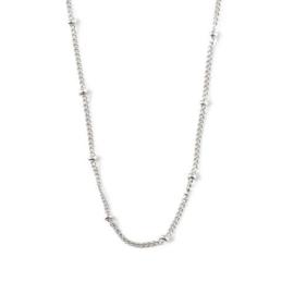 Orelia satellite chain necklace silver