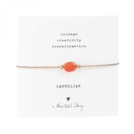 A beautiful story Carnelian armband