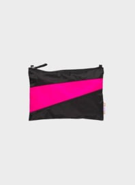 Susan Bijl The New Pouch Black & Pretty Pink Medium