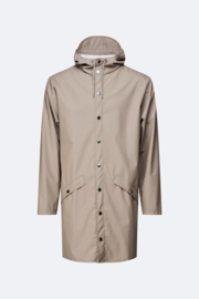 Rains long jacket taupe