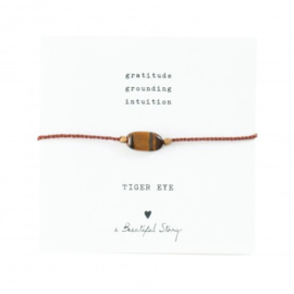 A beautiful story Tiger eye armband