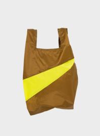 Susan BIjl The New Shopping Bag Make & Fluo Yellow Medium