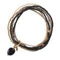 A beautiful story Nirmala black onyx gold armband