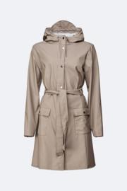 Rains curve jacket taupe