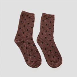 Pinned by K socks glitter dots pink