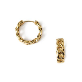 Orelia chain huggie hoop earrings gold