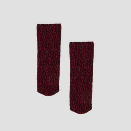 Pinned by K socks leopard red