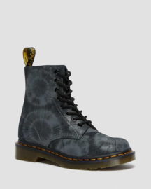 Dr Martens 1460 pascal tie dye printed suede black/ charcoal grey