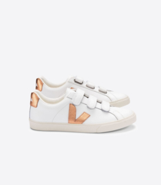 Veja 3 lock logo leather extra white venus