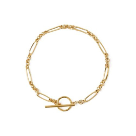 Orelia watch link chain T-bar bracelet gold