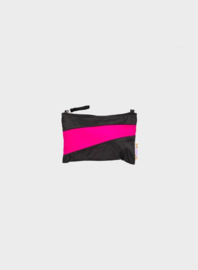 Susan Bijl The New Pouch Black & Pretty Pink Small