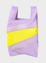 Susan Bijl the new shopping bag Idea & Fluo yellow large