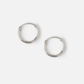 Orelia micro hoop earrings silver