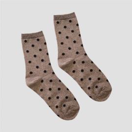 Pinned by K socks glitter dots silver