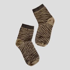 Pinned by K socks zebra brown