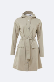 Rains curve jacket beige