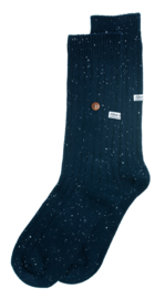 Alfredo Gonzales Speckled cotton socks navy