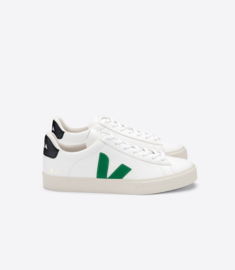 Veja campo leather extra white emeraude black