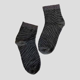Pinned by K socks zebra black