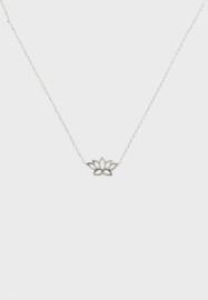 Orelia necklace lotus silver ORE24119