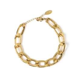 Orelia chunky chain bracelet gold