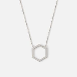Orelia hexagon necklace silver ORE24108