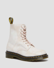 Dr Martens 1460 Pascal tie dye printed suede shell pink/ white