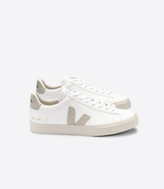 Veja campo chromefree leather extra white natural suede