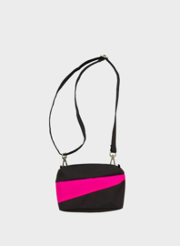 Susan Bijl  The New Bum Bag Black & Pretty Pink Small