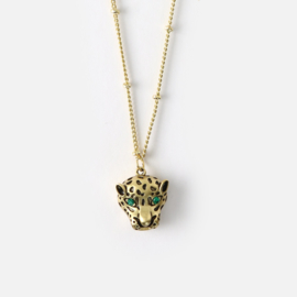 Orelia necklace panther gold