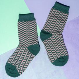 Pinned by K socks glitter pink green stripes
