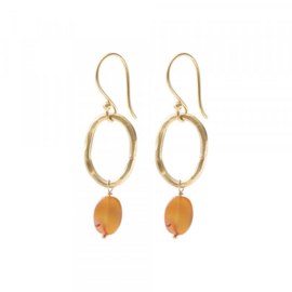 A beautiful story graceful Carnelian gold