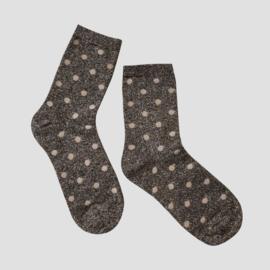 Pinned by K socks glitter dots grey