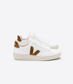Veja V-12 leather  white camel