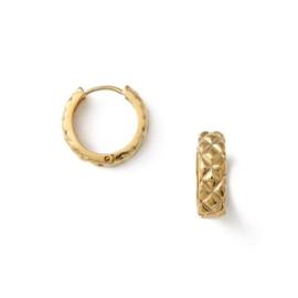 Orelia quilted huggie hoop earrings
