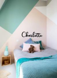 Naam sticker Charlotte