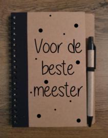 Notitieboekje beste meester