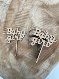 Cupcake toppers Baby girl