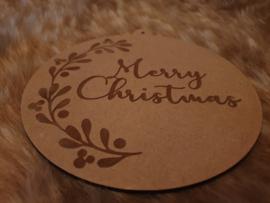 Kerstbal groot Merry Christmas