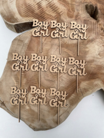 Cupcake toppers Boy or Girl