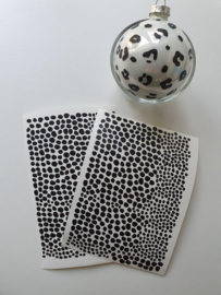 Kerstbal stickers dots