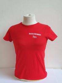 T-shirt (korte mouw) rood/zwart kinderen