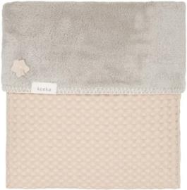 Koeka oslo teddy wiegdeken Sand/ misty grey